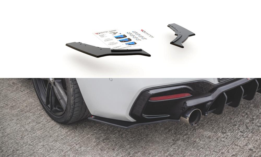 SPLITTERY TYLNE BOCZNE RACING DURABILITY V.3 BMW 1 F20 M-PACK FACELIFT / M140I - GRUBYGARAGE - Sklep Tuningowy